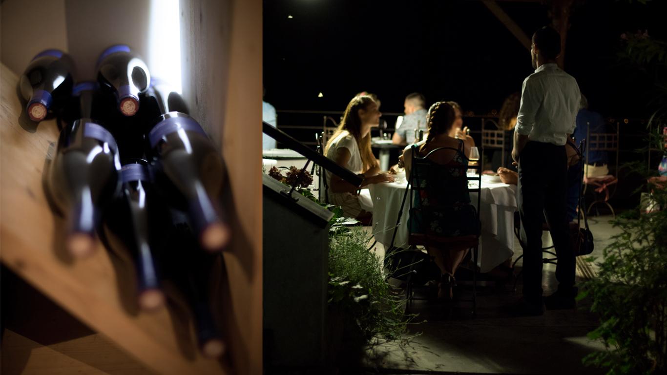 vins natures, terrasse, ambiance à la Corne d'or