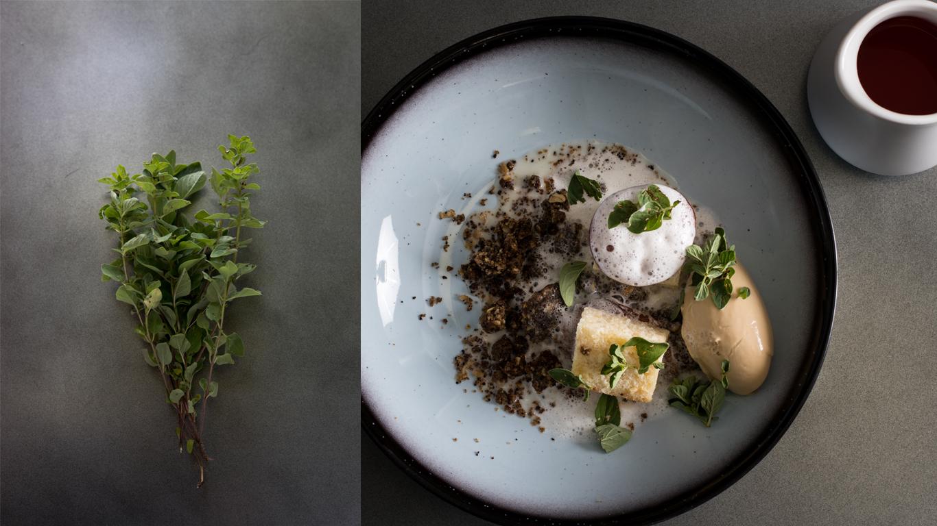 rammassage herbes sauvages chartreuse, dessert prunes namelaka dulce valrhona